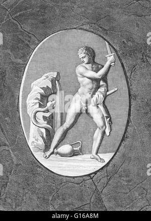Cadmus, dans la mythologie grecque, était un prince phénicien qui tua le Ismenian Serpent, du ressort d'Ismene à Banque D'Images