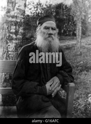 Photographie de Tolstoï prise en 1897. Léon Tolstoï (comte Léon Nikolaïevitch Tolstoï 9 Septembre, 1828 - 20 novembre Banque D'Images