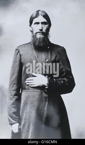 Grigori Efimovitch Raspoutine (22 janvier 1869 - 30 décembre 1916) était un mystique russe, faith healer et conseiller Banque D'Images