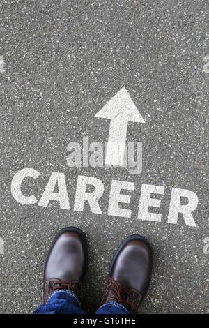 Objectifs de carrière et succès du concept d'entreprise de développement Banque D'Images