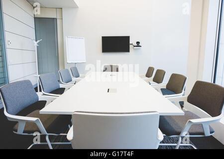 Conference table vide salle Banque D'Images