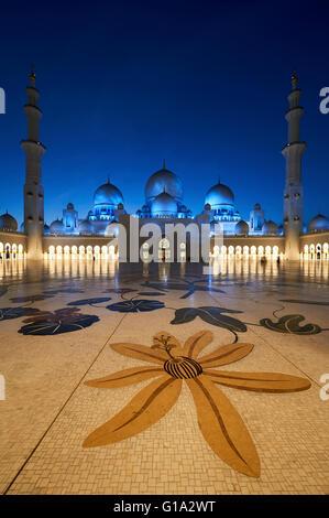 Grande Mosquée de Sheikh Zayed. Abu Dhabi Banque D'Images