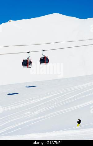 L'Eurasie, région du Caucase, la Géorgie, la station de ski de Gudauri Banque D'Images