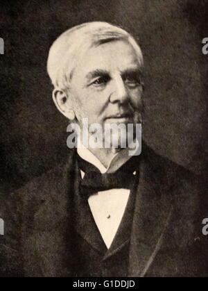 Portrait photographique de Oliver Wendell Holmes Sr. (1809-1894) un médecin américain, poète, professeur, conférencier Banque D'Images