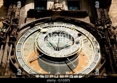 Horloge astronomique - Prague - République Tchèque Banque D'Images