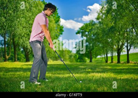 Joueur de golf Banque D'Images