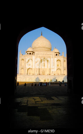 Le Taj Mahal. Agra, Uttar Pradesh, Inde. Banque D'Images