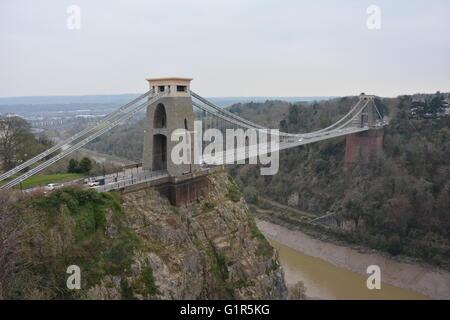 Le pont suspendu de Clifton près de Bristol comme une entité.