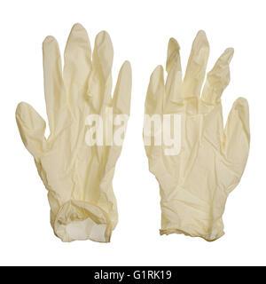 Paire de gants jetables Banque D'Images