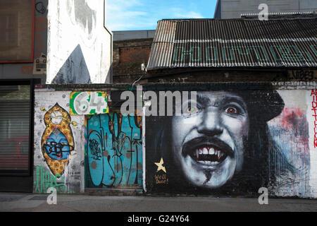 Londres, Royaume-Uni - 12 janvier 2014: Shoreditch, en plein coeur du quartier East End de Londres, est devenu Banque D'Images