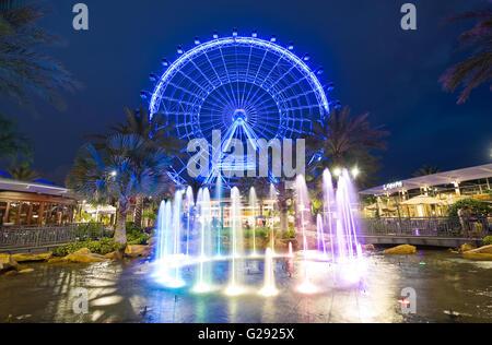 L'Œil d'Orlando est une grande roue de 400 mètres de hauteur au coeur d'Orlando et de la plus grande roue panoramique sur la côte est