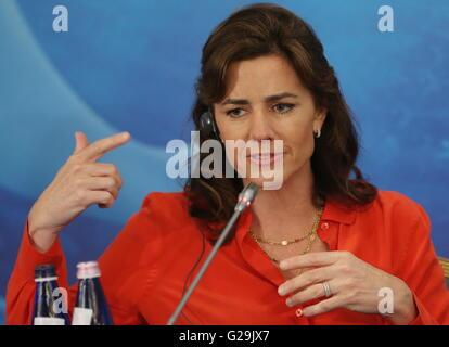 Moscou, Russie. 27 mai, 2016. Producteur Lindsey Collins donne une conférence de presse pour promouvoir le prochain Banque D'Images