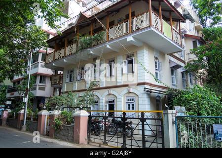 Un vieux bâtiment dans Pune, Maharashtra, Inde. Banque D'Images