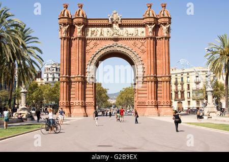 Parc de la Ciutadella, l'arc de triomphe ou arc triomphal, Barcelone, Catalogne, Espagne Banque D'Images
