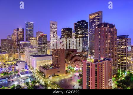 Houston, Texas, USA Centre-ville de la ville. Banque D'Images