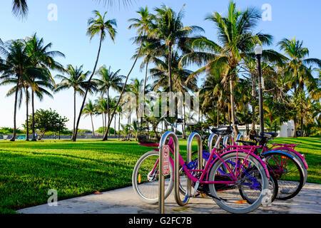 Le parc Lummus, Miami Beach, Florida, USA Banque D'Images