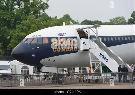 Duxford IWM, Cambridgeshire UK. 29 mai 2016. L'American Air Show célèbre le nouveau Musée de l'air américaine transformé. Banque D'Images