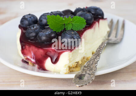 Gros plan d'une paix cheesecake Banque D'Images