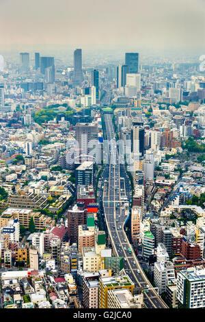 Shuto Expressway 3 à Tokyo, Japon Banque D'Images