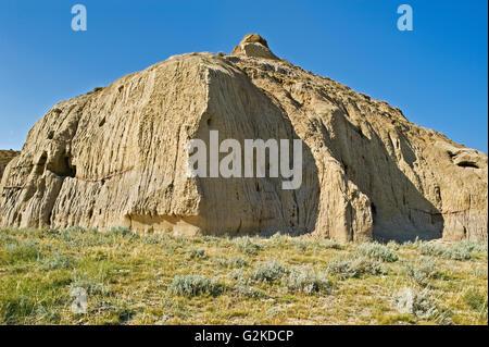 Castle Butte et Big Muddy Badlands Big Muddy Badlands Saskatchewan Canada Banque D'Images