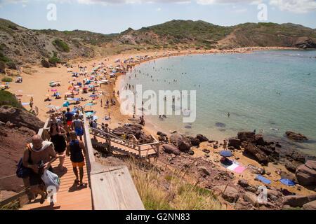 Platja de Cavalleria (Cavalleria beach), près de Fornells, Côte Nord, Minorque, Iles Baléares, Espagne, Europe Banque D'Images