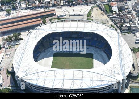 Joao Havelange Stade Olympique, avril 2016: Une vue aérienne du stade olympique à Rio de Janeiro, Brésil. © Hitoshi Banque D'Images