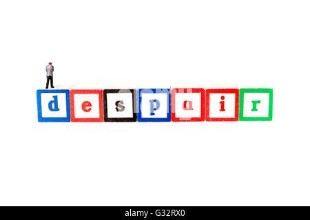 Le désespoir la perte complète ou l'absence d'espoir désespoir désespoir Angoisse Détresse Dépression découragement Banque D'Images