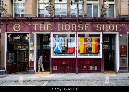 L'extérieur du célèbre Horseshoe Bar à Glasgow, Ecosse, Royaume-Uni