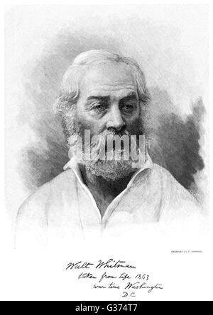 WALT Whitman, poète américain Date: 1819 - 1892
