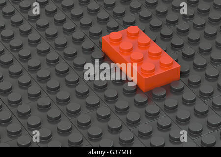 Concept leader de blocs de construction, le rendu 3D Banque D'Images