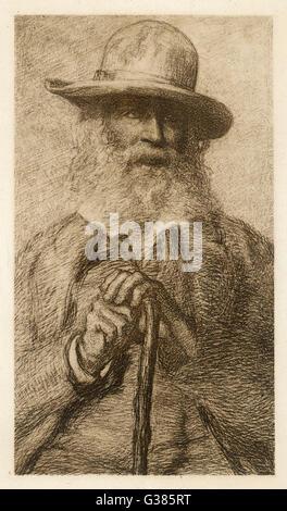 L'écrivain américain Walt Whitman Date: 1819 - 1892 Banque D'Images