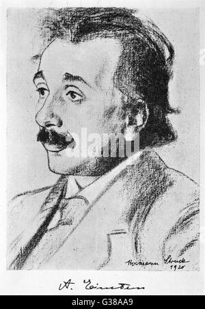 ALBERT EINSTEIN, physicien allemand né en 1920 Date: 1879 - 1955 Banque D'Images