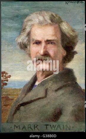 L'écrivain américain MARK TWAIN Née: Destouches Date: 1835 - 1910 Banque D'Images