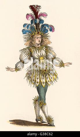 LOUIS XIV, roi de France en costume de théâtre comme 'Le Roi Soleil' (le Roi Soleil) Date: 1638-1715 Banque D'Images