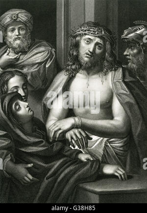 Jésus de Nazareth couronné d'épines Date: 6 BC - AD 30 Banque D'Images