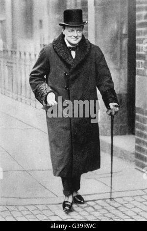 WINSTON CHURCHILL (1874 - 1965) Homme d'État Britannique Date: 1924 Banque D'Images