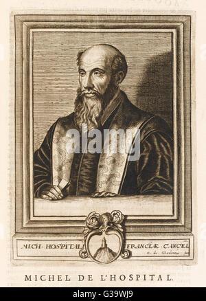 MICHEL DE L'hôpital ou l'hôpital juriste français et homme politique Date: 1507 - 1573