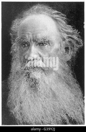 L'écrivain russe Léon Tolstoï et moraliste Date: 1828 - 1910 Banque D'Images