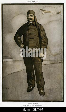 LOUIS Blériot (1872 1936), le français aviator, dans sa combinaison de vol Banque D'Images