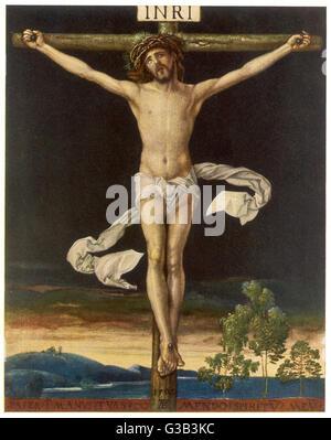 Jésus crucifié Date: 6 BC - AD 30 Banque D'Images