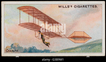 Octave Chanute's glider expériences à Miller Park, Indiana, non seulement a suscité un grand intérêt du public, Banque D'Images