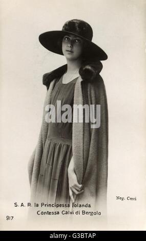 La princesse Margherita Milena Elisabetta Maria Romana de Savoie (1901 - 1986), la fille aînée du roi Victor Emmanuel Banque D'Images