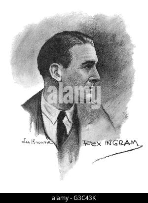 Rex Ingram (né Reginald Ingram Montgomery Hitchcock, 1892-1950), l'Irlandais réalisateur, producteur, écrivain et Banque D'Images