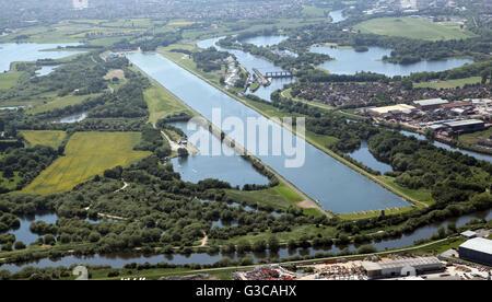 Vue aérienne de Holme Pierrepont Centre Nautique National à Nottingham, Royaume-Uni Banque D'Images