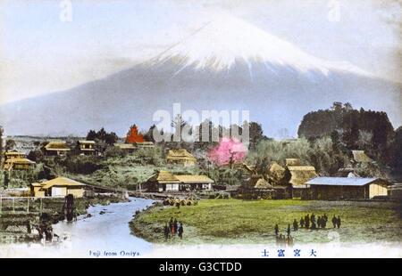 Le Mont Fuji, Japon - Vue de Omiya Date: vers 1910 Banque D'Images