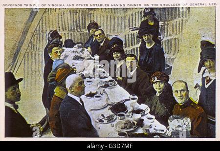 Confederate Memorial, Stone Mountain, Georgia, USA - Gouverneur Trinkle de Virginie et d'autres notables de dîner Banque D'Images