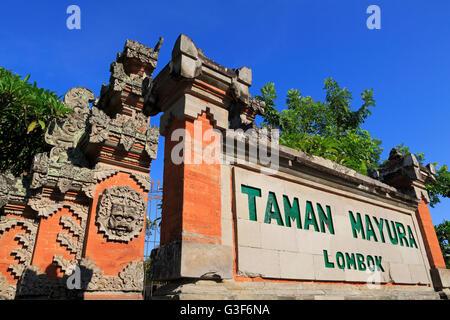 Palais aquatique de Mayura, ville de Mataram, Lombok, Nusa Tenggara Ouest Province, Indonésie Banque D'Images