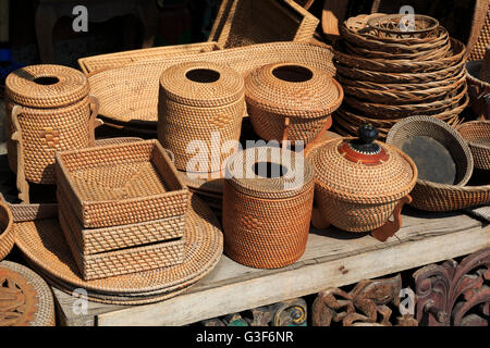 L'artisanat local, de la ville de Mataram, Lombok, Nusa Tenggara Ouest Province, Indonésie Banque D'Images