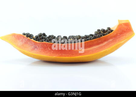 Gros plan sur les fruits de papaye avec backgroud Banque D'Images