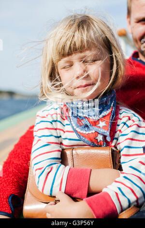 La Norvège, Little girl (4-5) avec le père
